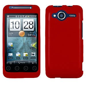 FOR HTC Evo Shift 4G Cover Hard Case Rubberized Red