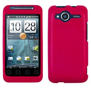 FOR HTC Evo Shift 4G Cover Hard Case Rubberized Rose Pink