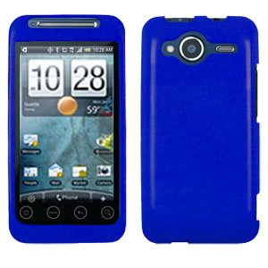 FOR HTC Evo Shift 4G Cover Hard Case Rubberized Blue