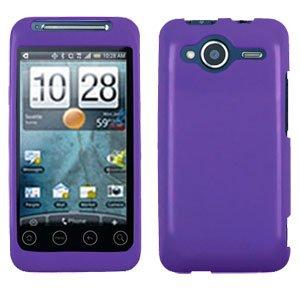 FOR HTC Evo Shift 4G Cover Hard Case Rubberized Purple