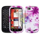 For Motorola Cliq 2 MB611 Cover Hard Case H-Flower