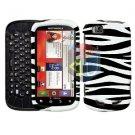 For Motorola Cliq 2 MB611 Cover Hard Case Zebra