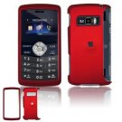 For LG KeyBo2 KeyBo 2 Cover Hard Case Rubberized Red