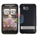 For HTC ThunderBolt Cover Hard Phone Case Rubberized Black