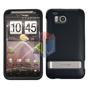For HTC ThunderBolt Cover Hard Phone Case Rubberized Black