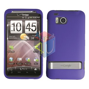For HTC ThunderBolt Cover Hard Phone Case Rubberized Purple