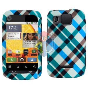 For Motorola Citrus WX445 Cover Hard Case Plaid
