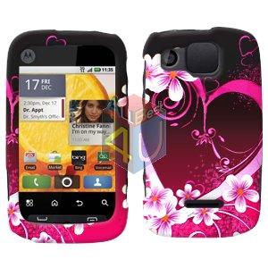 For Motorola Citrus WX445 Cover Hard Case Love