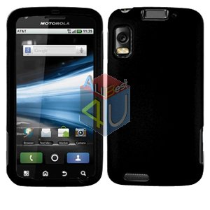 For Motorola Atrix 4G MB860 Cover Hard Case Rubberized Black