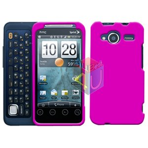 FOR HTC Evo Shift 4G Cover Hard Case Rubberized Hot Pink