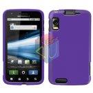 For Motorola Atrix 4G MB860 Cover Hard Case Rubberized Purple