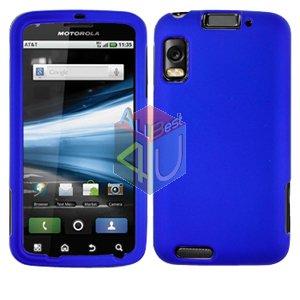 For Motorola Atrix 4G MB860 Cover Hard Case Rubberized Blue