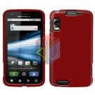 For Motorola Atrix 4G MB860 Cover Hard Case Rubberized Red