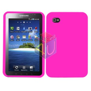 For Samsung Galaxy Tab Cover Hard Case Rubberized Hot Pink ( i800 / p1000 )