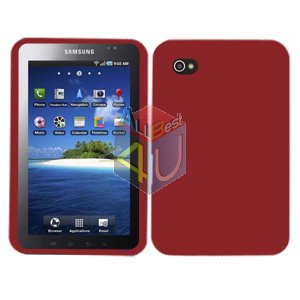 For Samsung Galaxy Tab Cover Hard Case Rubberized Red ( i800 / p1000 )