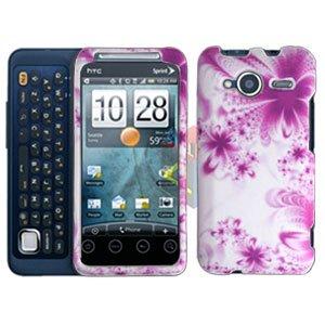 FOR HTC Evo Shift 4G Cover Hard Case H-Flower