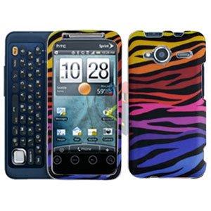 FOR HTC Evo Shift 4G Cover Hard Case C-Zebra