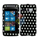 For HTC Surround T8788 Cover Hard Case Polka Dot