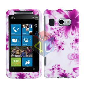 For HTC Surround T8788 Cover Hard Case H-Flower