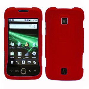 For Huawei Ascend M860 Cover Hard Case Rubberized Red