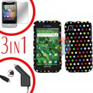 For Samsung Galaxy S 4G Car Charger +Hard Case R-Dot +Screen