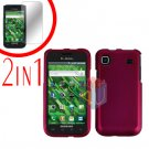 For Samsung Galaxy S 4G Screen Protector +Cover Hard Case Rubberized Rose Pink