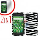 For Samsung Galaxy S 4G Screen Protector +Cover Hard Case Zebra