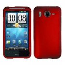 FOR HTC Desire HD Cover Hard Phone Case Rubberized Red