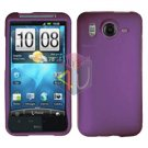 FOR HTC Inspire 4G Cover Hard Phone Case Rubberized Purple