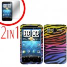 For HTC Inspire 4G Cover Hard Case C-Zebra + Screen Protector 2-in-1