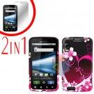 For Motorola Atrix 4G MB860 Cover Hard Case Love + Screen Protector 2-in-1