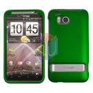 For HTC ThunderBolt Cover Hard Phone Case Rubberized Green