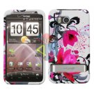 For HTC ThunderBolt Cover Hard Phone Case W-Flower ADR6400