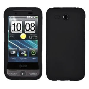 FOR HTC Freestyle Cover Hard Phone Case Rubberized Black