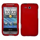 FOR HTC Freestyle Cover Hard Phone Case Rubberized Red