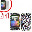 For HTC Incredible S Cover Hard Case R-Leopard + Screen Protector 2-in-1
