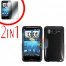 For HTC Inspire 4G Cover Hard Case Carbon Fiber + Screen Protector 2-in-1