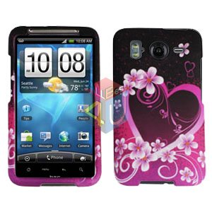 FOR HTC Desire HD Cover Hard Phone Case Love