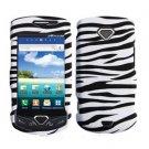 For Samsung Gem i100 Cover Hard Phone Case Rubberized Zebra
