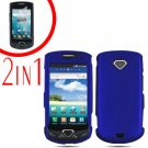 For Samsung Gem i100 Cover Hard Phone Case Blue + Screen Protector