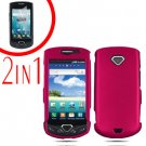 For Samsung Gem i100 Cover Hard Phone Case R-Pink + Screen Protector