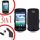 For Samsung Gem i100 Car Charger +Hard Case Black +Screen Protector