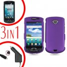 For Samsung Gem i100 Car Charger +Hard Case Purple +Screen Protector