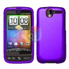 FOR HTC Desire Cover Hard Case Rubberized Purple