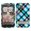 For HTC ThunderBolt Cover Hard Phone Case Plaid