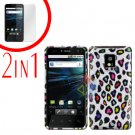 For LG T-Mobile G2x Cover Hard Case Rubberized R-Leopard +Screen 2-in-1