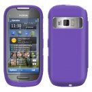 For Nokia C7-00 Cover Hard Case Rubberized Purple