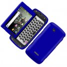 For Samsung Sidekick 4G T839 Cover Hard Phone Case Rubberized Blue