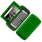 For Samsung Sidekick 4G T839 Cover Hard Phone Case Rubberized Green