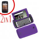 For Samsung Sidekick 4G T839 Cover Hard Phone Case Purple + Screen 2 in1